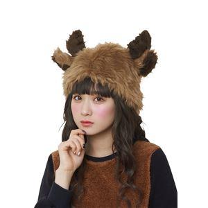 【クリスマスコスプレ 衣装】ふわっとトナカイハット h03