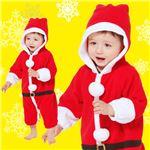 【クリスマスコスプレ 衣装】サンタカバーオール 子供80