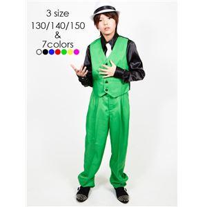 キッズダンス衣装 【ベスト グリーン 150サイ...の商品画像