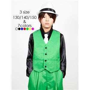キッズダンス衣装 【ベスト グリーン 150サ...の紹介画像2