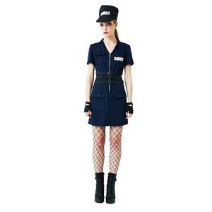 ハロウィンコスプレ 【SWAT Ladies】 帽子 ワンピース グローブ付き ポリエステル 〔イベント〕の写真1