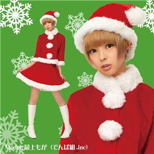 【クリスマスコスプレ】ベイシックサンタ レッド 2Lサイズ - 拡大画像