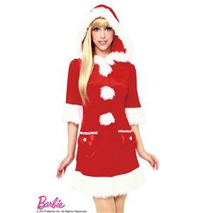 【クリスマスコスプレ】Barbie Christmas フーディーフィットサンタ(レッド) - 拡大画像