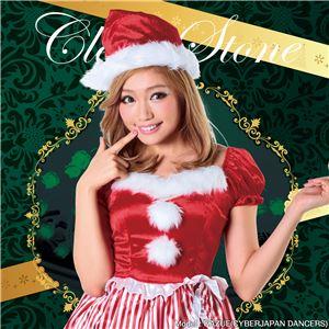 【クリスマスコスプレ 衣装】フリルストライプサンタ