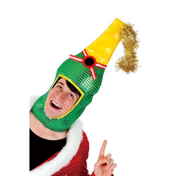 クリスマス 被りもの シャンパンヘッド