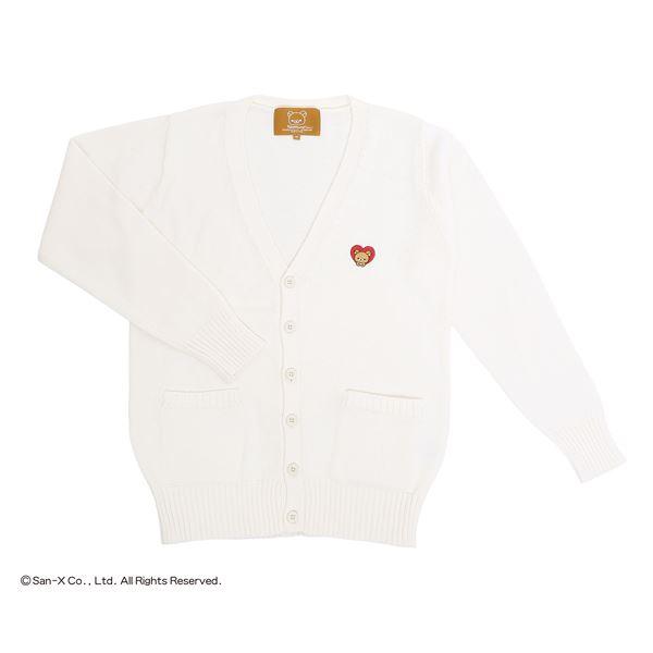 リラックマ カーディガン ホワイト Mf00