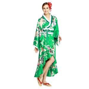 【コスプレ・着物ドレス】Tsuma Dream Emerald Green XL - 拡大画像