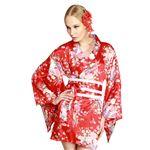 【コスプレ・着物ドレス】Hana Blossom Red M