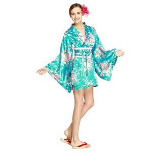 【コスプレ・着物ドレス】Hana Blossom Light Blue M - 拡大画像