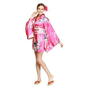【コスプレ・着物ドレス】Hana Blossom Shocking Pink XL - 拡大画像