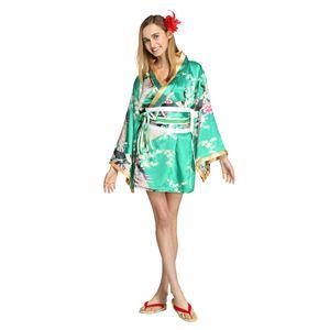 【コスプレ・着物ドレス】Flower Princess Emerald Green M - 拡大画像