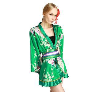 【コスプレ・着物ドレス】Megami Emerald Green M