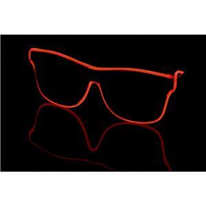 ELEX(エレクトリック イーエックス)光るラインサングラス 赤 - 拡大画像