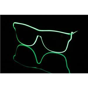 ELEX(エレクトリック イーエックス)光るラインサングラス 緑 - 拡大画像