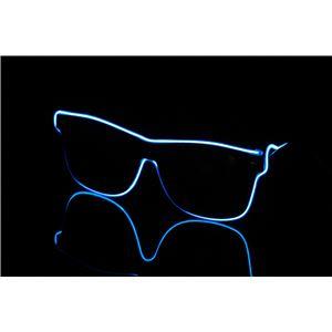ELEX(エレクトリック イーエックス)光るラインサングラス 青 - 拡大画像