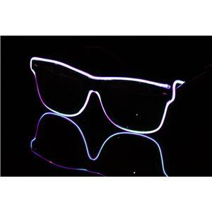 ELEX(エレクトリック イーエックス)光るラインサングラス 紫 - 拡大画像
