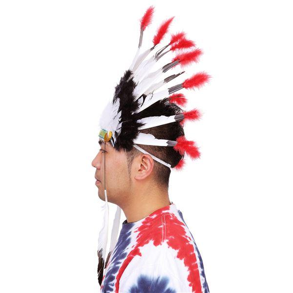 インディアン 羽飾りのかぶりもの
