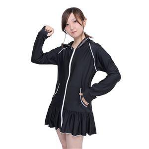 ワンピース ラッシュガード 黒×白 M