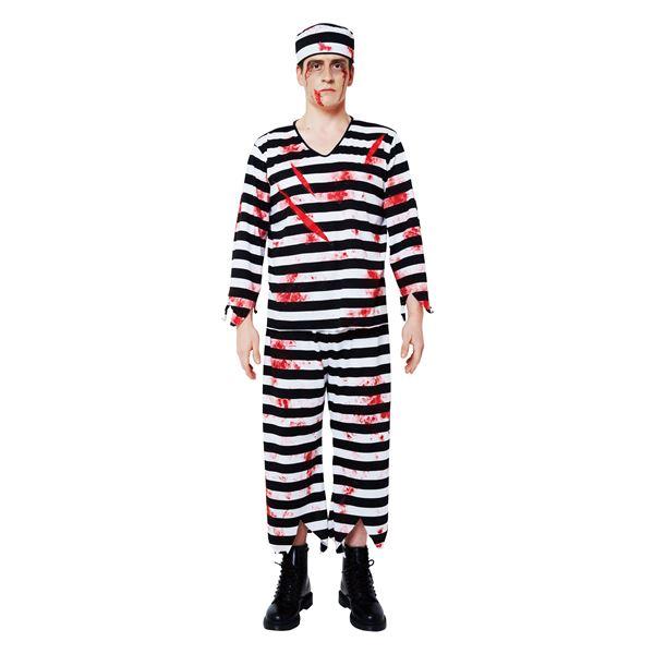 囚人服 ホラー コスプレ(血のり付)「ブラッディープリズナー メンズ」