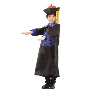 子供用 コスプレ衣装 【キョンシー キッズ120サイズ】 帽子 お札 ローブ付き ポリエステル 〔ハロウィン〕