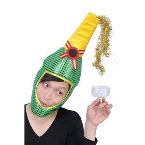 クリスマスコスプレ/衣装 【光るシャンパンハット】 ポリスエステル 〔イベント パーティー〕