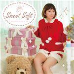 【クリスマスコスプレ 衣装】 Sweet Soft ポンポンパーカーサンタ