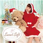 【クリスマスコスプレ 衣装】 Sweet Soft ポンポンワンピースサンタ
