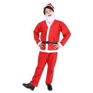【クリスマスコスプレ 衣装】 誰でもサンタ5点セット h03