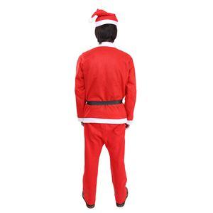 【クリスマスコスプレ 衣装】 誰でもサンタ5点セット f06