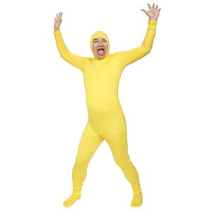 全身タイツ/コスプレ衣装 【イエロー Lサイズ】 身長180cm迄 洗える ポリエステル 『のびのび全身タイツくん』