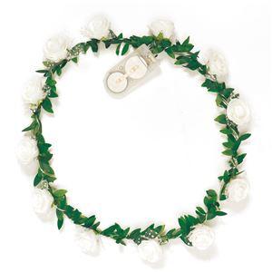 ELEX(エレクトリック イーエックス)光る花かんむり 白