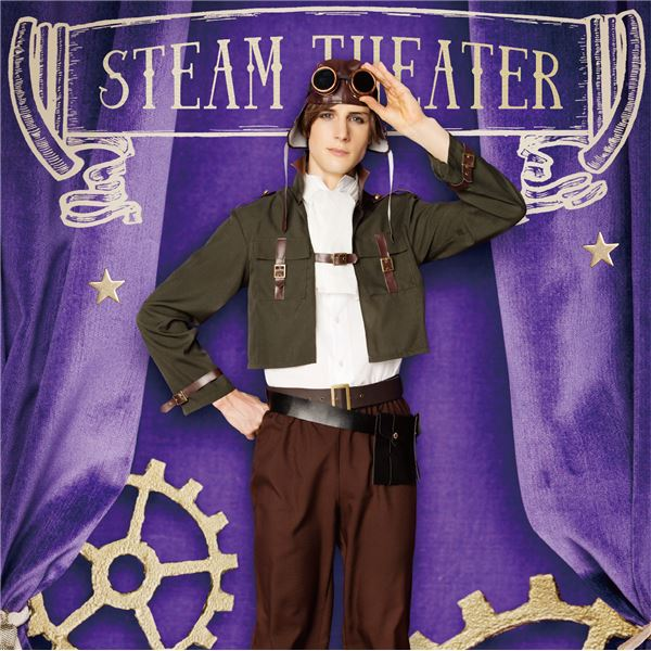 【コスプレ】 steampunk 飛行士 Men'sf00