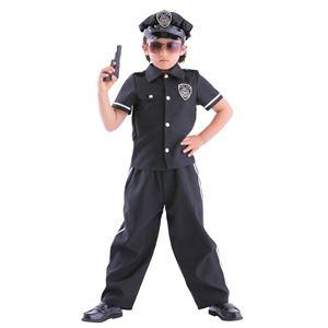 子供用 コスプレ衣装 【スーパーポリスマン 120サイズ】 帽子 シャツ パンツ付き ポリエステル 〔ハロウィン〕