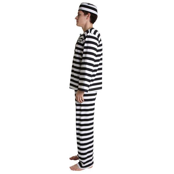 【囚人服 ボーダー/メンズ用】 フォンデットスーツ 黒/白 Men's