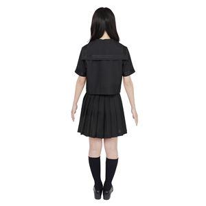 制服/コスプレ衣装 【ブラック Mサイズ】 洗える セーラーブラウス リボン スカート付き ポリエステル 『カラーセーラー』