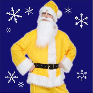 【クリスマスコスプレ 衣装】 GOGOサンタサン イエロー 黄