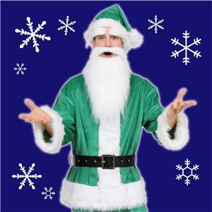 【クリスマスコスプレ 衣装】 GOGOサンタサン グリーン 緑