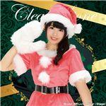 【クリスマスコスプレ 衣装】 カラフルサンタ(ピンク)