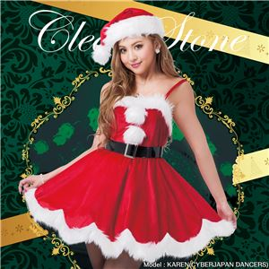 【クリスマスコスプレ 衣装】 デイジーワンピースサンタ - 拡大画像