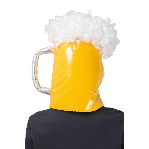 【ビールジョッキのかぶりもの】 光ルビールハット