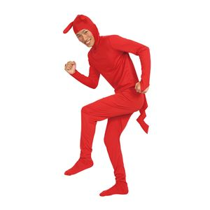 カラフルデコチュウ全身タイツ 赤