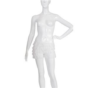 ペチコートパンツ 【ホワイト Mサイズ】 ウエスト52cm~80cm 洗える ウエストゴム 〔コスプレ ミニスカート〕