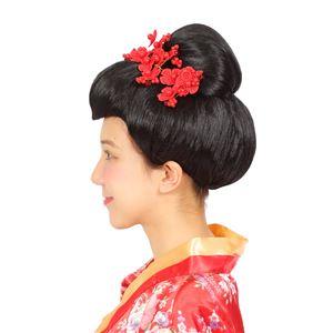 ウィッグ/コスプレ衣装 【日本髪】 塩化ビニル製 『カツランド』 〔ハロウィン パーティー〕