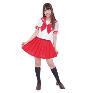 【コスプレ】カラーセーラー 赤L