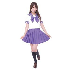 【コスプレ】カラーセーラー 紫L - 拡大画像