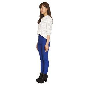 ウルトラフィツト美脚パンツ 青 Sサイズ