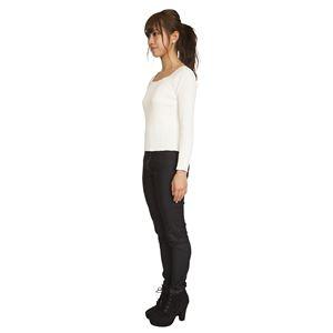 ウルトラフィット美脚パンツ 【黒デニム Lサイズ】 ウエスト68cm~75cm 洗える ストレッチ素材 ウエストゴム