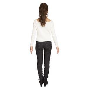 ウルトラフィット美脚パンツ 黒デニム Lサイズ