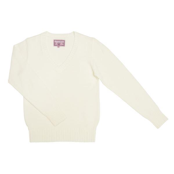 Teens Ever(ティーンズエバー) Vネックセーター(ホワイト) Lサイズf00