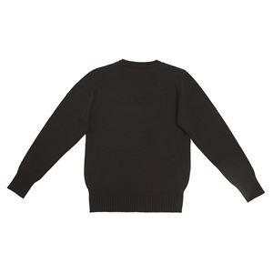制服コスプレ衣装 【Vネックセーター ブラック Mサイズ】 洗える アクリル レディース154cm〜162cm 『Teens Ever』 〔イベント〕 の画像
